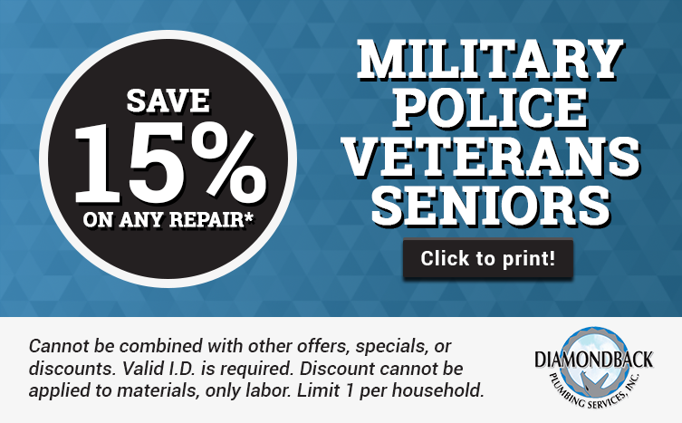 15% Discount for Military, Police, Veterans, and Seniors - Call For Details