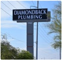 diamondback plumbing sign