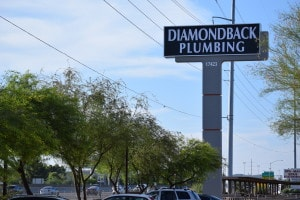 diamond back plumbing sign
