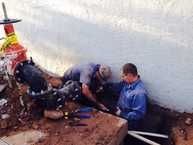 Phoenix commercial drain water repair service
